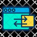 Web Webpage Data Sharing Icon