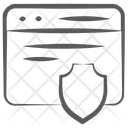 Web Shield Cyber Shield Web Safety Icon