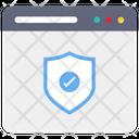 Web Shield Shield Security Icon