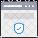 Web Shield Check Web Security Web Security Icon