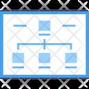 Web Sitemap Flowchart Web Hierarchy Icon
