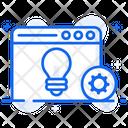 Web Solution Web Development Web Idea Icon