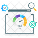 Web Speed Test Web Optimization Web Dashboard Icon