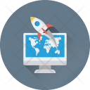Web Startup Missile Icon