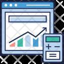 Web Statistics Data Infographic Web Development Icon