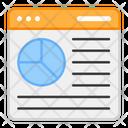 Web Statistics Web Infographic Data Analysis Icon
