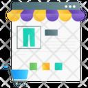 Online Shopping Web Shopping Shopping Website Icon