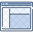 Website Wireframe Webpage Wireframe Web Structure Icon