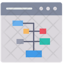 Web Structure Hierarchy Structure Icon