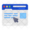 Web Surfing Online Click Data Website Icon