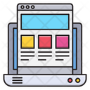 Web Template Design Icon