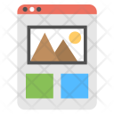 Web Template Online Icon