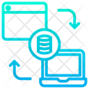 Web To Laptop Transforming Icon