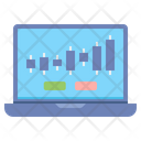 Web Trading Internet Laptop Icon