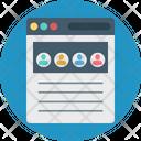 Web Traffic Users Web Profile Icon