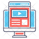 Video Tutorial Video Website Web Video Icon