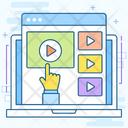Video Stream Video Marketing Video Content Icon