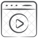 Video Streaming Online Video Media Player Icon