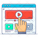 Web Video Video Streaming Video Tap Icon