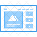 Web Video Blog Web Wireframe Web Design Icon