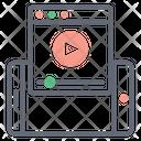 Web Video Content Icon