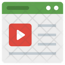 Web Video Streaming Icon