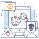 Web Virus Web Malware Infected Data Icon
