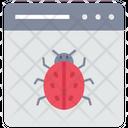 Web Virus Web Bug Bug Website Icon