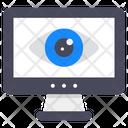 Web Vision Web Monitoring Web Analysis Icon