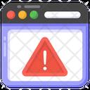 Web Caution Web Warning Web Alert Icon