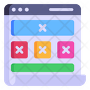 Web Wireframe Icon