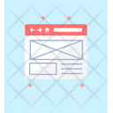 Web Wireframing Wireframe Design Layout Design Icon