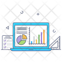 Online Analytics Web Workshop Online Data Icon
