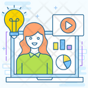 Webinar Business Consultation Business Analytics Icon