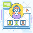 Webinar Online Learning Online Education Icon