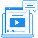 Webinar Webcast Video Chat Icon