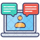 Webinar Laptop Support Icon