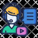 Webinar Headset Online Icon