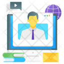 Webinar Online Person Computer User Icon