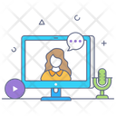 Webinar Video Call Video Conference Icon