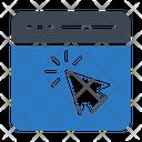 Webpage Browser Cursor Icon