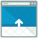 Move Up Webpage Icon