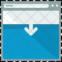 Webpage Move Down Icon