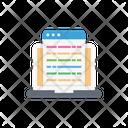 Webpage Internet Laptop Icon