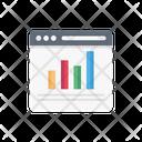 Webpage Graph Seo Icon