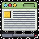 Webpage Browser Digital Icon