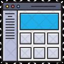 Webpage Template Design Icon