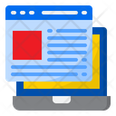 Website Webpage Laptop Icon