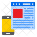 Mobilephone Webpage Website Icon