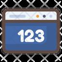 Webpage Website Numeric Icon